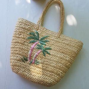 Handbags - Palm Tree Straw Beach Bag